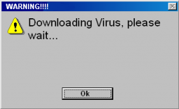 It's never this obvious when you receive a virus!