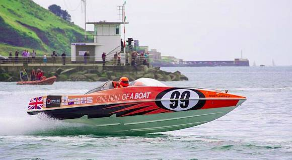 One Hull of a Boat, racing in the Plymouth leg of the P1 Championships 2013 (photo: Jerome Whittingham, @photomoments)